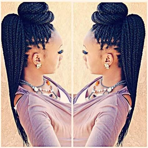 Hairstyles To Do With Box Braids by 25 Best Ideas About Box Braid Styles On Box