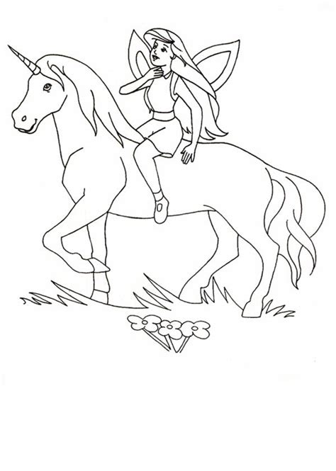 fairy unicorn coloring page free coloring pages of unicorn fairy