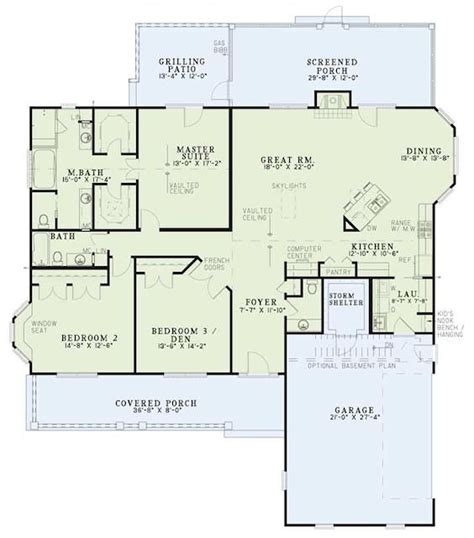 one level house plans with basement floor a new casa