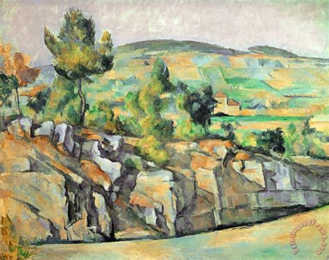 paul cezanne aix en provence rocky countryside painting
