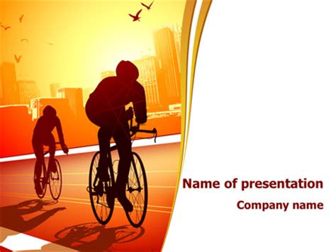 Bicycle Zone Powerpoint Template Backgrounds 07961 Bicycle Ppt Templates Free