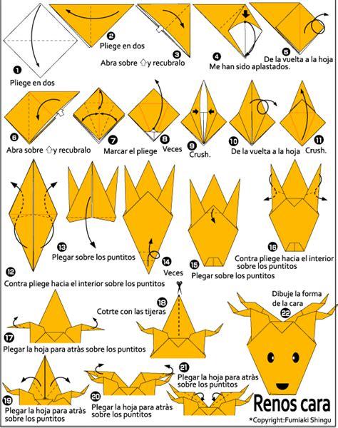 How To Make An Origami Reindeer - origami renos cara