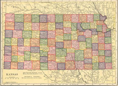 map usa kansas the usgenweb archives digital map library hammonds 1910