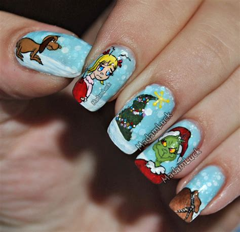 the grinch who stole chistmas nail art by madamluck on
