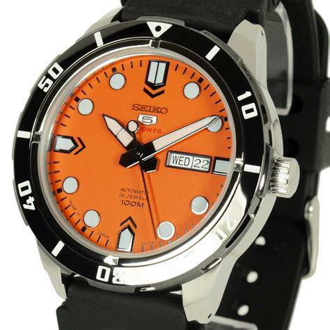 Seiko 5 Rubber seiko 5 sports rubber orange srp675j1 srp675