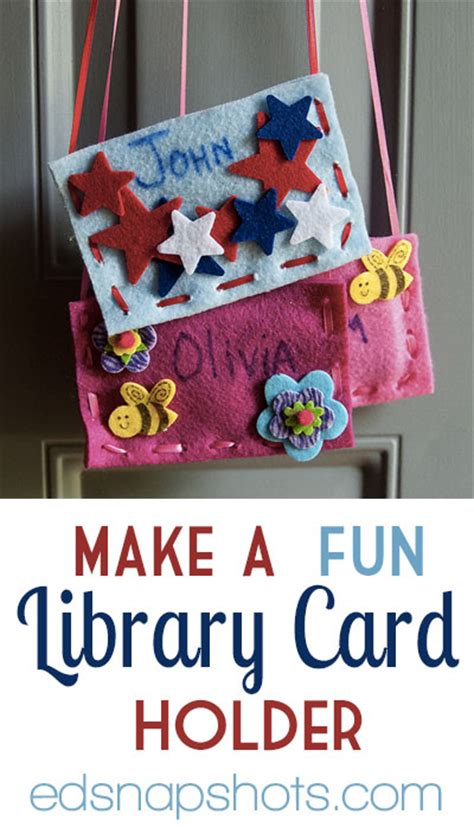 how to make library card make a library card holder