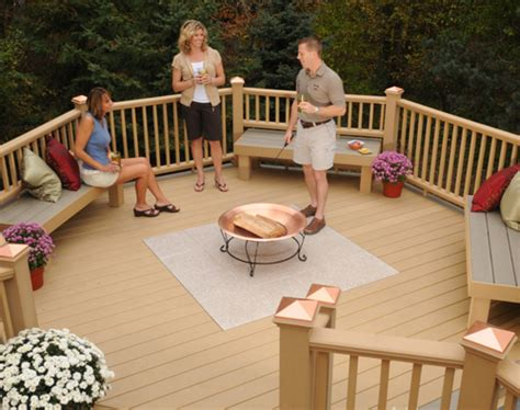 Latitudes Intrepid Composite Decking And Railing With Deck Can You Put Pit On Wood Deck
