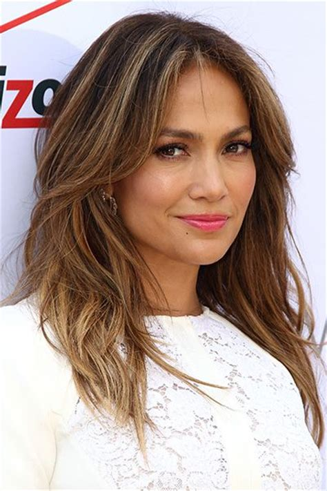 mousy brown hair color jennifer lopez brunette hair with blonde highlights