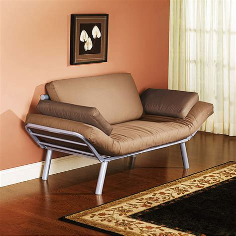 Metal Futon Chair by Metal Arm Futon Brownstone Driftwood Walmart