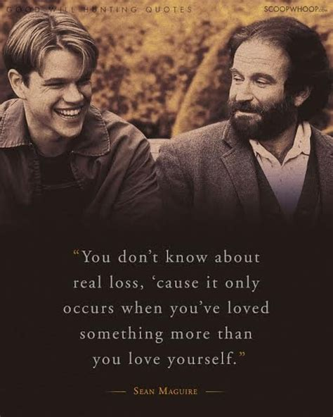film love hunting 20 moving quotes from good will hunting about life love
