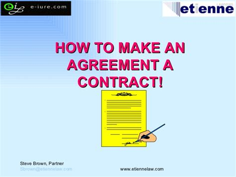 how to make it contract how to make an agreement a contract etienne lawyers