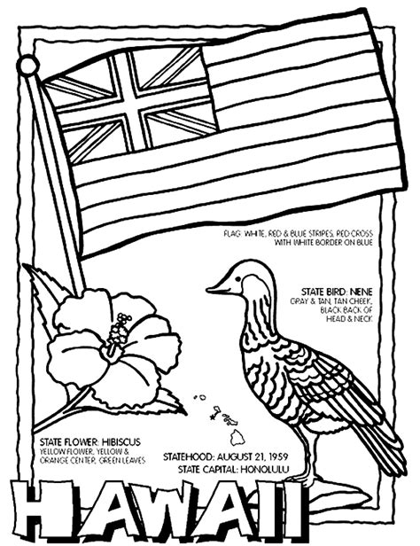 hawaii state flag coloring page az coloring pages