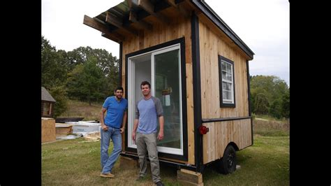 tiny tailgating housecabin  wheels   square foot