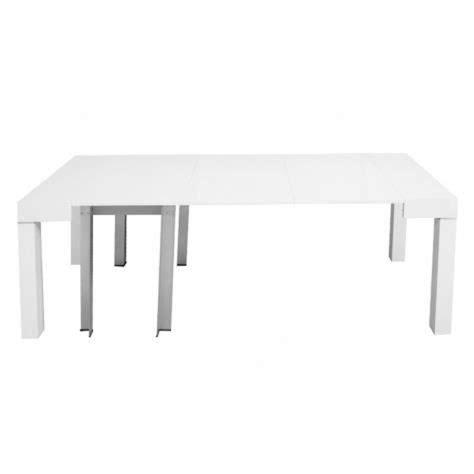 table console extensible blanche laqu 201 e 4 rallonges alesia achat vente ensemble salle a manger