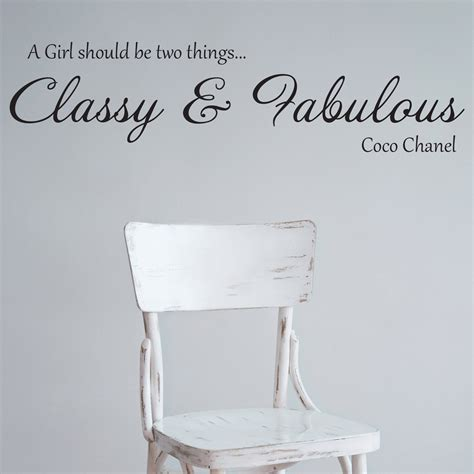 coco chanel wall stickers coco chanel fabulous quote wall sticker