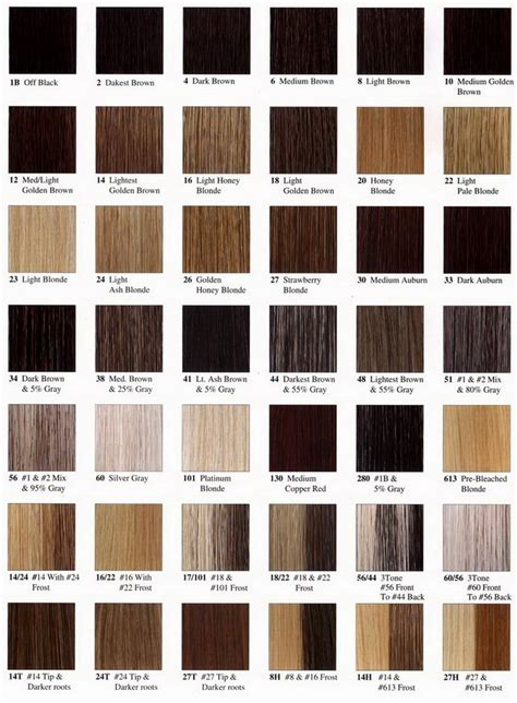 hair extension color chart hair extensions hair extensions 100 human