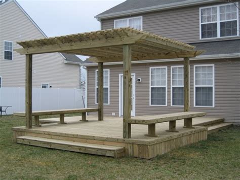 pergola with deck fence pro decks and pergolas