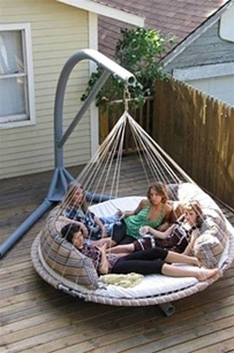 round swing bed 19 relaxing suspended outdoor beds that will transform