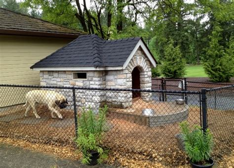in house dog fence 34 doggone good backyard dog house ideas