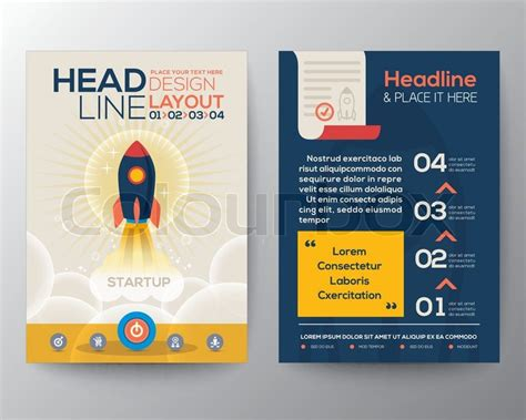 layout for flyer brochure flyer design layout vector template in a4 size