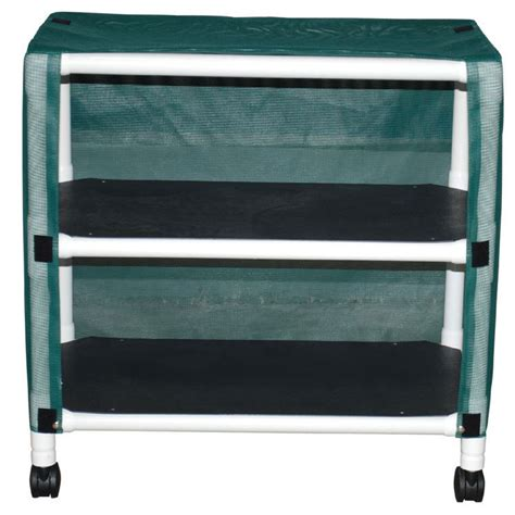 shelf pvc utility linen cart unoclean
