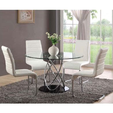 4 Seater Glass Dining Table Marseille Glass Dining Table With 4 Toulouse Dining Chairs