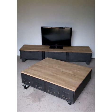 meuble tv avec bureau les 25 meilleures id 233 es concernant meuble tv industriel