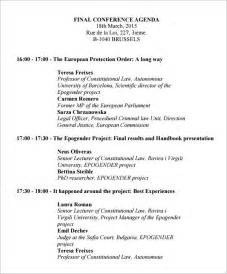 conference agenda template 6 download free documents in pdf
