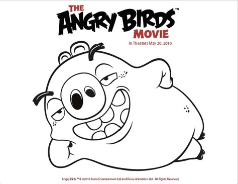 angry birds movie coloring pages free printable coloring pages from the angry birds movie