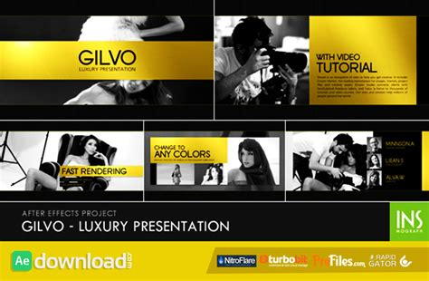 after effects templates for presentation gilvo luxury presentation videohive template free