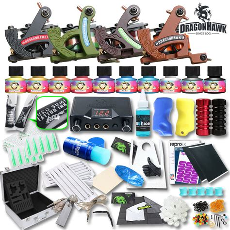 tattoo machine equipment discount code professional complete tattoo kit tattoo machine lcd power