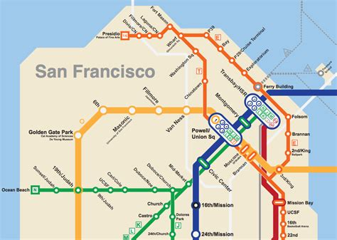 san francisco underground map bay area 2050 the bart metro map future travel