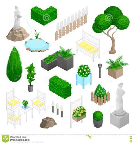 design elements garden garden park landscape elements stock vector image 77102353