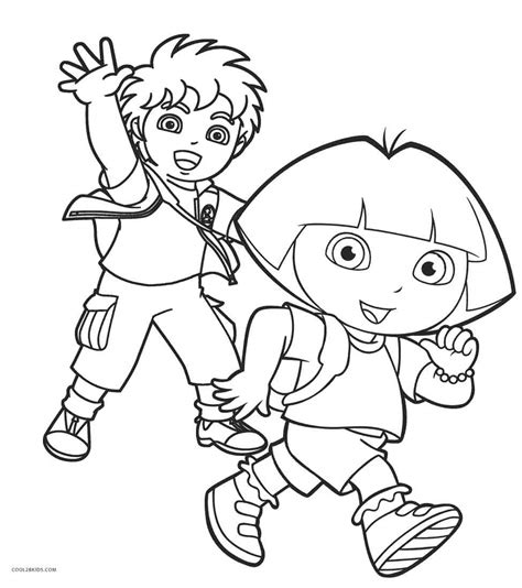 diego coloring pages nick jr free printable dora coloring pages for kids cool2bkids