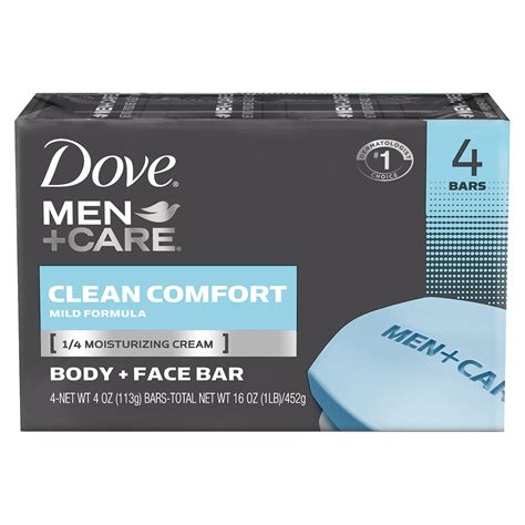 dove clean comfort bar soap dove men care body and face bar clean comfort 4 oz 4 bar