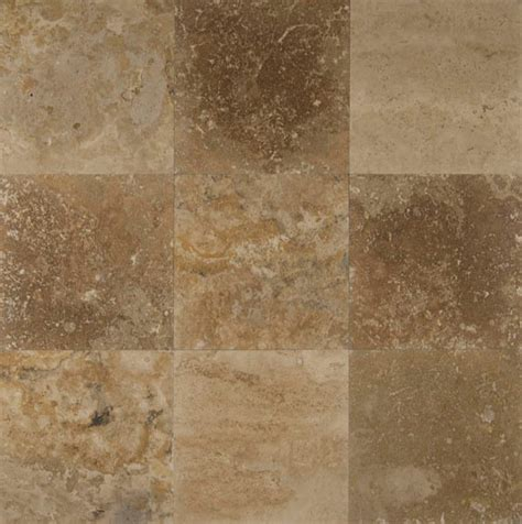"Bedrosians Travertine Tile Desert Rustic 18"" x 18"" Natural"