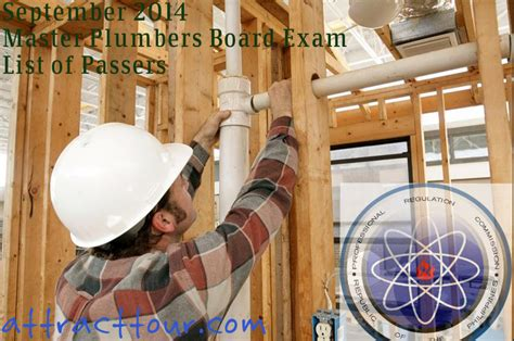 Master Plumbing Test by Congratulations September 2014 Master Plumbers Board
