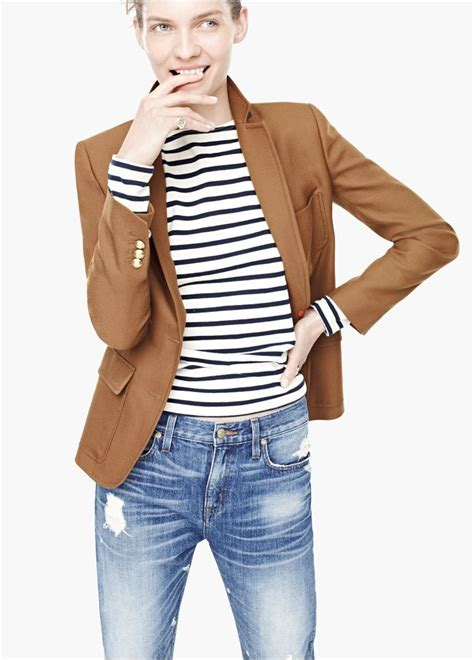 striped sleeve blazer grey navy camel blazer navy and white striped sleeve and distressed denim classic