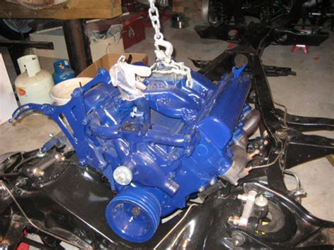 cadillac    engine installed