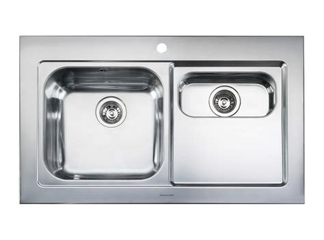 stainless steel bowl kitchen sink rangemaster mezzo 1 5 bowl stainless steel kitchen sink