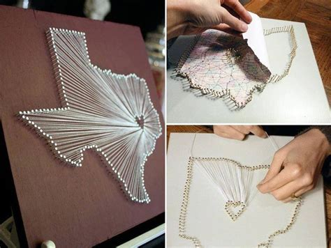 String Designs Step By Step - how to make string map step by step diy tutorial
