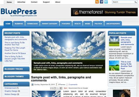 templates para blogger download bluepress blogger template 2014 free download