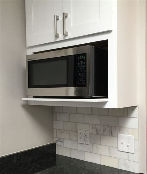 Kitchen Cabinets With Microwave Shelf 25 Best Ideas About Microwave Shelf On White Microwave Open Shelving And Open