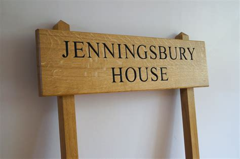 Handmade Wooden Sign - personalised wooden house signs makemesomethingspecial