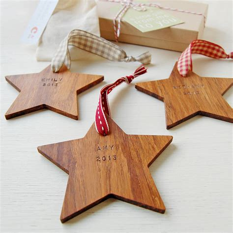 i believe wooden christmas star decoration by clara and