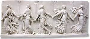 Museum Pedestals Greek Roman Wall Decor Bacchantes Dancing Maidens Wall
