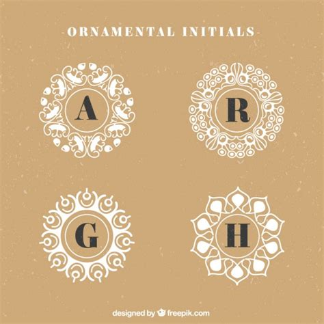decorative initials font decorative initials logos vector free download