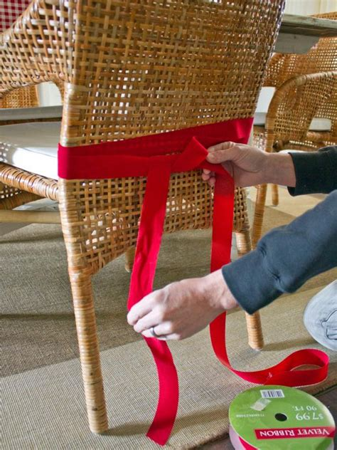 google images hgtv how to wrap ribon around christmas tree how to embellish dining chairs hgtv
