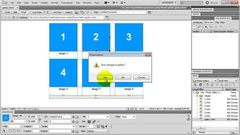 dreamweaver tutorial javascript add javascript in dreamweaver youtube
