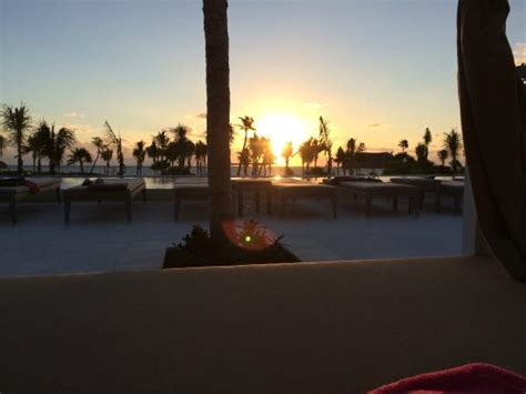 Comfort Inn Carrier Circle Sunrise Across The Pool Towards The Ocean Picture Of